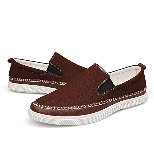 Leisure QYY 2528 Driving Casual Mens On Salabobo Comfy New Smart Slip Shoes Cozy Brown Leather SYRqwUw