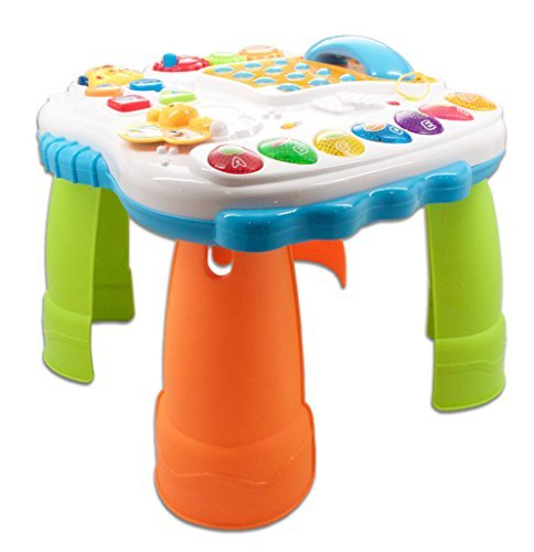 Learn'n'play childrens work and play table with phone for toddlers learning to stand interactive and fun table with sound and colors