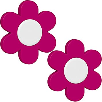 Emsa Blümchen Deko Clip U0026quot;Landhausu0026quot; 2 Stück, Rosa, 28x28x18 Cm