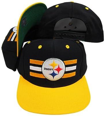 Reebok Pittsburgh Steelers Black/Yellow Two Tone Snapback Adjustable Plastic Snap Back Hat/Cap
