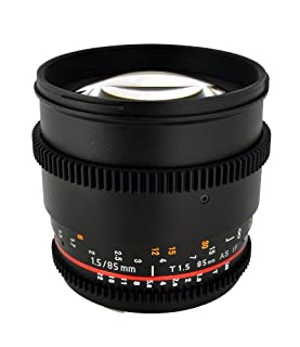 Rokinon Cine CV85M-MFT 85mm T1.5 Cine Aspherical Lens for Micro Four-Thirds 85-85mm Fixed Lens for Olympus/Panasonic Micro 4/3 Cameras (B00IVQ6UHW) | Amazon Products