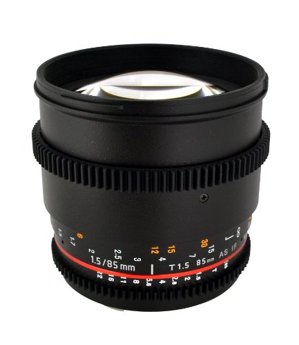 Rokinon Cine CV85M-MFT 85mm T1.5 Cine Aspherical Lens for Micro Four-Thirds 85-85mm Fixed Lens for Olympus/Panasonic Micro 4/3 Cameras (Best Rokinon Cine Lens)