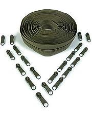 Nuburi #3-5 Yards of Make Your Own Zipper - 20 Zipper Pulls