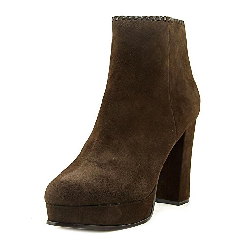 Marc Fisher Natasia Women Bootie Suede Toe Ankle Closed Fashion Boot Brown Size 7 M US