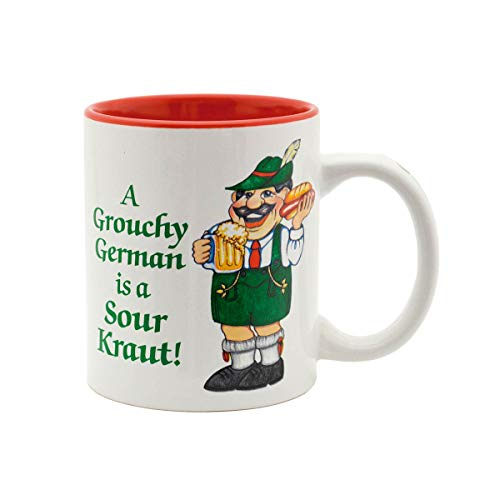 Grouchy German is a Sour Kraut Ceramic Coffee Mug