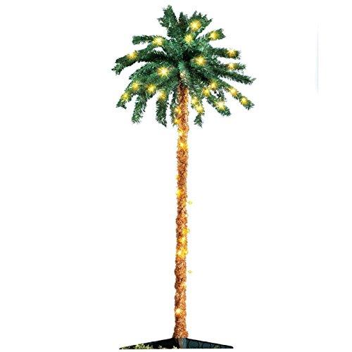 6' Artificial Palm Tree Summer-Luau-Patio-Christmas Yard Decoration Christmas Palm Trees