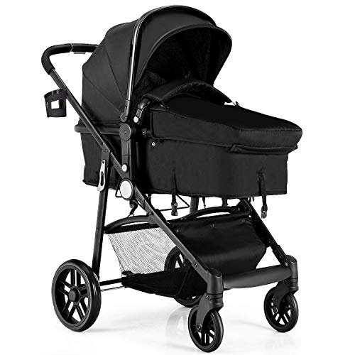 Find Bargain BABY JOY Baby Stroller, 2 in 1 Convertible Carriage Bassinet to Stroller, Pushchair wit...