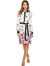 Womens Matte Jersey Printed shirtdress