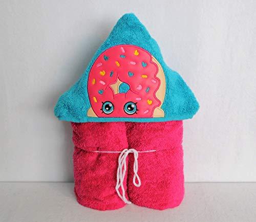 Pink Donut Hooded Bath Towel - Baby, Child, Tween