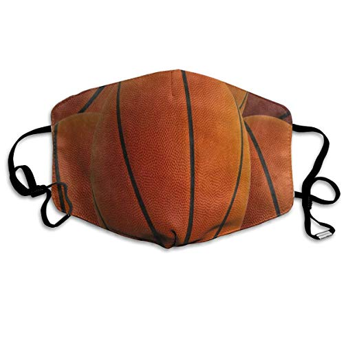 Dust Mask Hipster Basketball Ball Sport Face Mask Cover Anti-dust Reusable Windproof Half Face Mouth Warm Masks for Ski Bicycle Cycling Motorcycle Women Men