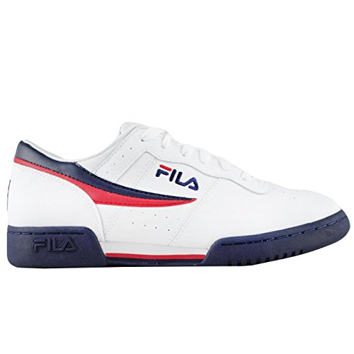 Fila Men's Original Vintage Fitness Shoe,White/Navy/Red,13