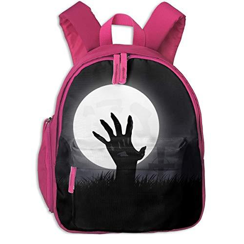(Halloween Haunted Cemetary Zombie Hand Children School Bag Book Backpack Outdoor Travel Pocket Double)