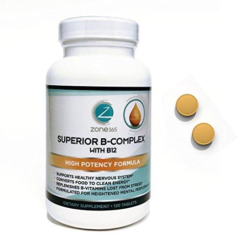 Vitamin B12 Complex. Energy & Immune System Boosting Supplement. 3-Month Supply complete B Vitamin Supplement.
