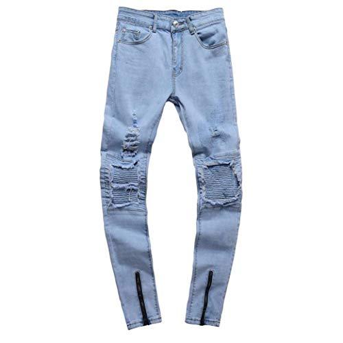 Pantaloni Destroyed Di Skinny Strech Classiche Uomo Holes Blau Da Slim Ragazzi Denim Jeans Chern Fit qzTwCRwE