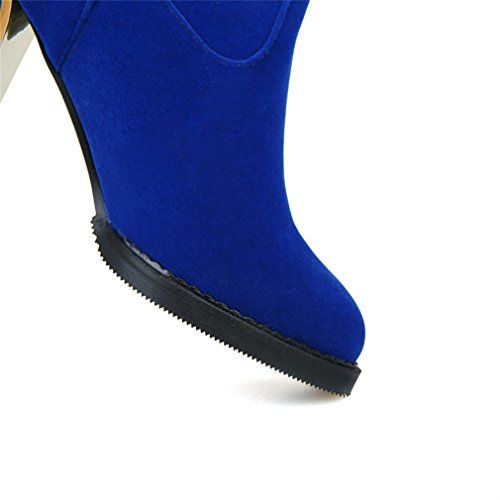 On Put Tassels Knee Womens High Boots Block Heel Rosso Xianshu Sa8qwx