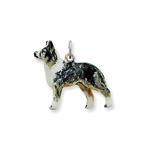 Top 10 Jewelry Gift Silver Enamel Australian Shepherd Charm ()