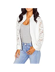 DaySeventh Womens Long Sleeve Lace Blazer Suit Casual Jacket Coat Outwear