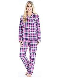 PajamaMania Women's Cotton Flannel Long Sleeve Pajamas PJ Set