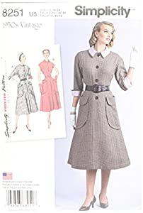 1950s Sewing Patterns- Dresses, Skirts, Tops, Pants  1950s Onepiece Dresses Size: U5 (16-18-20-22-24) $14.94 AT vintagedancer.com