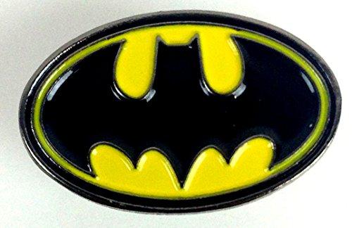 BATMAN Logo - Classic Animated - Comic - TV Style - UK Imported Enamel Pin (Batman Pin Enamel)