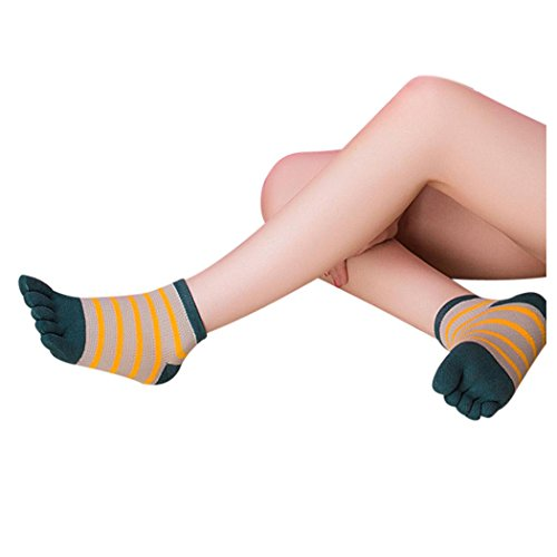 Kvinners Tå Sokker, Inkach Stilige Jenter Bomull Fem Finger Sokker Pustende Løpesokker Lette Sports Sokker C