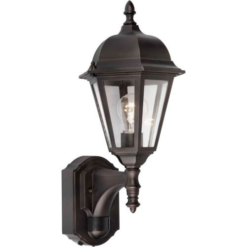 -01-32  Exterior Wall Light with Clear Beveled Glass  Shades, Antique Bronze (Forte Glass Lighting)