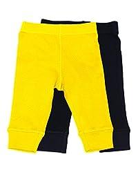 Baby Legging 2 Pack Navy & Yellow 18 Months