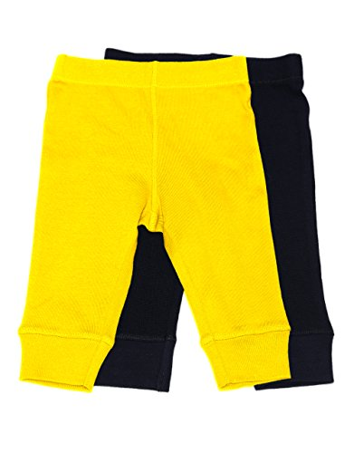 Baby Legging 2 Pack Navy & Yellow 18 Months