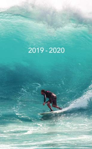 2019-2020: Two-Year Monthly Pocket Planner with Phone Book + Notebook | Surfer Riding a Wave: Volume 5 (24 Month Calendar) por Pretty Planners