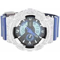 G Shock Metallic Blue GA110NM-2A Watch Men Dig-Ana Lab Diamond Thanksgiving Sale