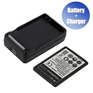 Battpit™ New Replacement Mobile/SmartPhone/Cell Phone Battery + Charger (With USB Output) for Samsung EB494358VU (1600 mAh) (Ship From Canada)