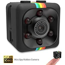 Mini Spy Hidden Camera - Shop360z Security Nanny Dash Cam With Motion Detection and Night Vision, Full HD 1080p Small and Portable Indoor/Outdoor for Home, Car and Office. Include Easy Use Guide.