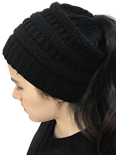 Choies Women#039s Black Chunky Knitted Beanie Hat