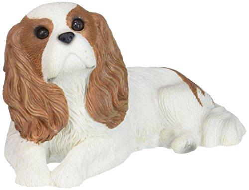 Sandicast Mid Size Ruby Cavalier King Charles Spaniel Sculpture - (Miniature Cavalier King Charles Spaniel)