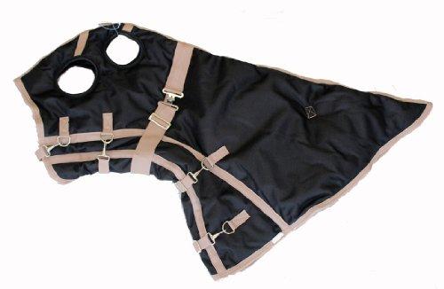 Winter Horse Blanket Hood 1200D Heavy Weight Waterproof Rip Stop Black Small (Horse Hoods)
