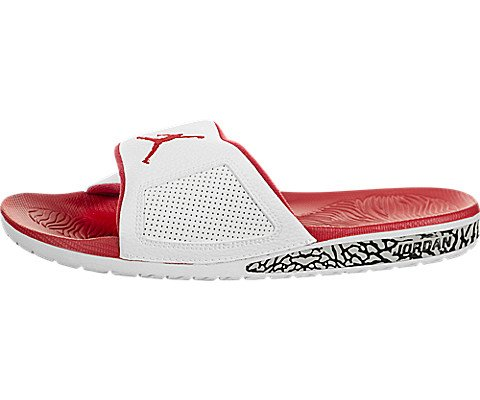 Nike Men's Air Jordan Hydro III Retro Slide White/Fire Red Fire (12 D(M) US)
