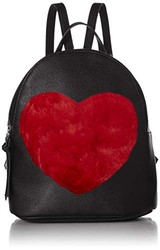 (T-Shirt & Jeans Back Pack with Faux Fur Heart,multi)