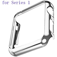 Apple Watch Case,Aroko Super Thin PC Plated Plating Protective Bumper Case for Apple Watch 42MM (PC Case Silver...