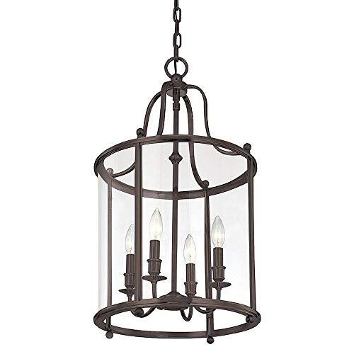 Hudson Valley Lighting 1315-DB Mansfield Collection - Four Light Pendant, Distressed Bronze