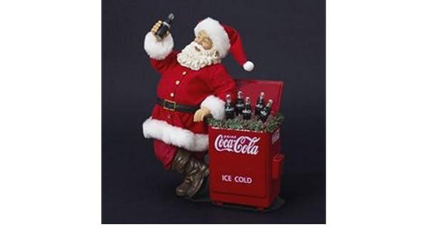 27,94 cm trabécula colaâ Santa Claus con refrigerador mesa de Navidad: Amazon.es: Hogar