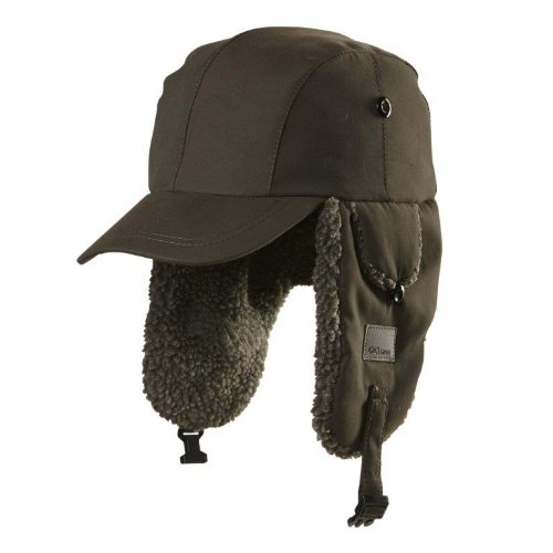 Chaos Linux Trapper Hat with Brim, Green, One Size