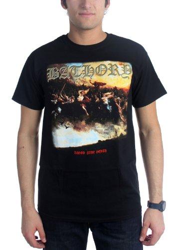 Authentic BATHORY Blood Fire Death Quorthon Black Metal T-Shirt S M L XL XXL NEW (100 T-shirt Authentic Black)