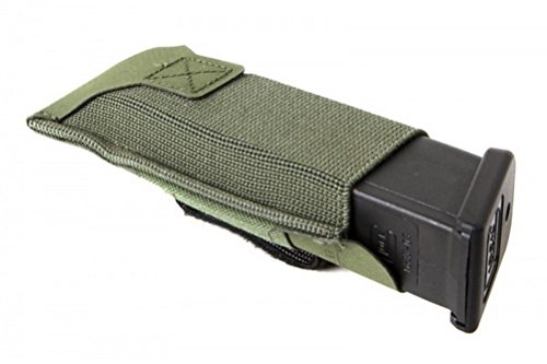 (Blue Force Gear Belt Mounted Ten-Speed Pistol Magazine Pouch with Adjustable Belt Loop (Olive Drab, Double))