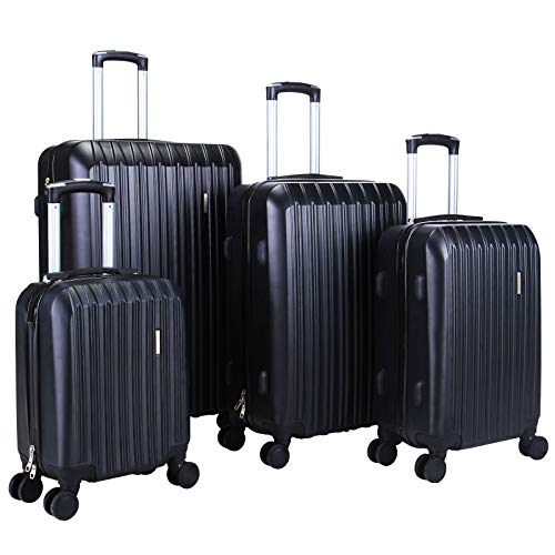 (Murtisol 4 Pieces ABS Luggage Sets Hardside Spinner Lightweight Durable Spinner Suitcase 16