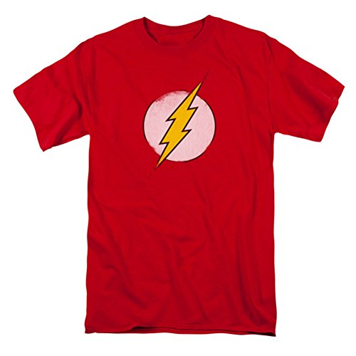 DC Comics Men's the Flash Rough Flash Logo T-Shirt