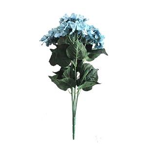 """Lily Garden 22.5"""" Silk Hydrangea 7 Stems Bouquet Flower 74"""