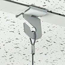 Extra Heavy Duty White Aluminum Drop Ceiling Hooks, One Piece Ceiling Grid Clips - Multiple Quantities Available