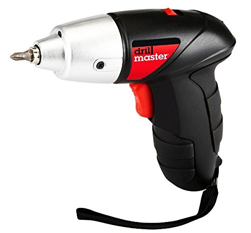 4.8 Volt 1/4 Inch Cordless Screwdriver Kit with Built-in LED Light; Forward and Reverse Operation by Drill Master ()