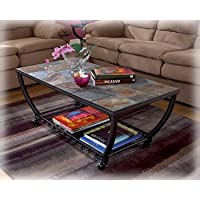 Contemporary Rectangle Coffee Table w/Casters