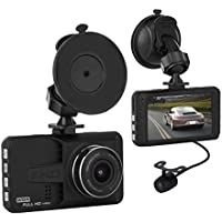 Car Black Box, ULU 1080P Front + VGA Rear 290° Super Wide Angle Dash Cam Dashboard Camera Recorder with 3.0 IPS, G-Sensor, WDR, Loop Recording, Night Mode,Car DVR no SD Card